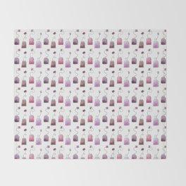 Pink Tea Bags Throw Blanket
