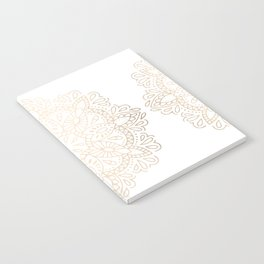 Mandala White Gold Shimmer by Nature Magick Notebook