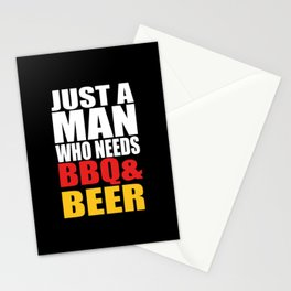 BBQ BEER MEN Quote Stationery Cards