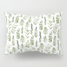 Watercolor leaves Pillow Sham