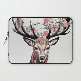Deer and Flowers Laptop Sleeve