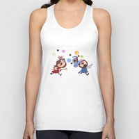 animal crossing Tank Tops featuring Animal Crossing Grumps by Steven Ray Brown