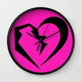 Hot Pink Heartbreak Wall Clock