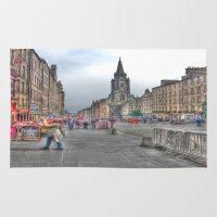 edinburgh Area & Throw Rugs featuring Edinburgh by Christine Workman