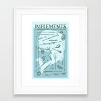 dick Framed Art Prints featuring Moby Dick by BT Livermore