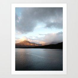 Gold - Scotland   landscape - nature - sky - mountains - outdoor - photography - photo - print Art Print