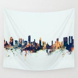 Honolulu Hawaii Skyline Wall Tapestry