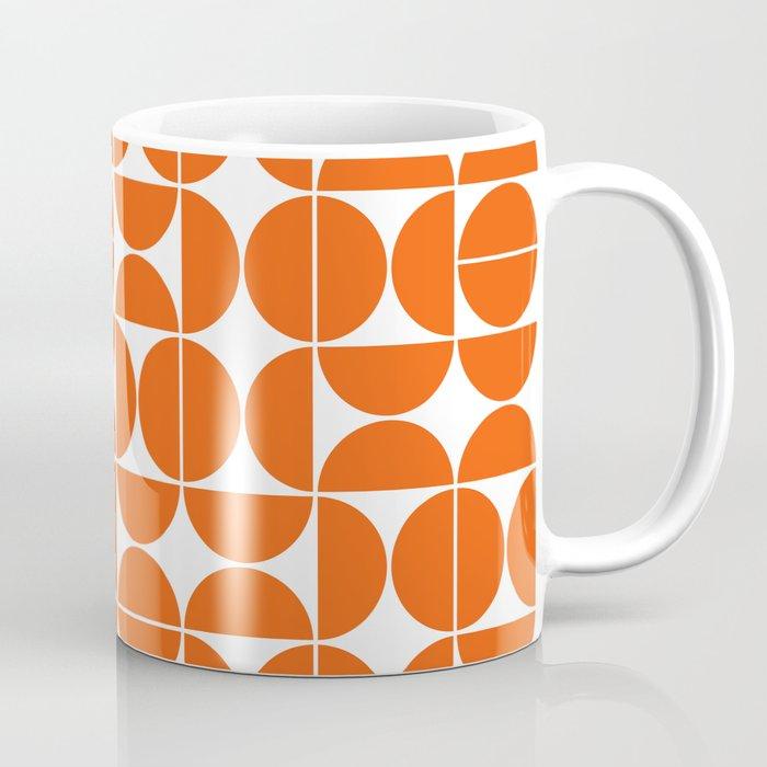 Mid Century Modern Geometric 04 Orange Kaffeebecher