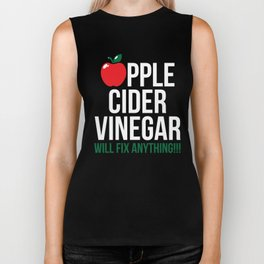 Apple Cider Vinegar gift Funny ACV Miracle Cure Gift Health Drink Organic Detox Sickness Cure Biker Tank