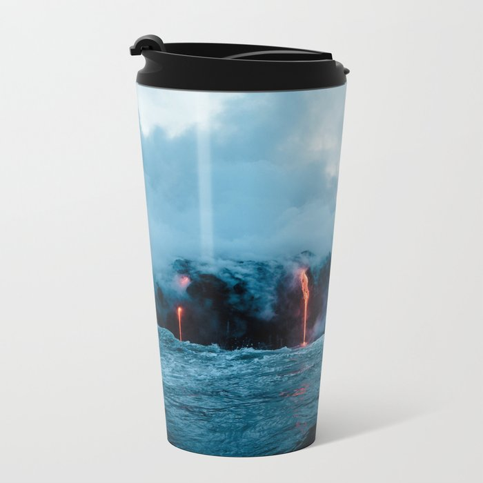 Volcano #ocean Metal Travel Mug