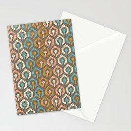 Honeycomb IKAT - Cocoa Stationery Cards