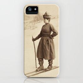 Vintage Skiing Photo iPhone Case