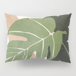 Abstract Monstera Leaf Pillow Sham
