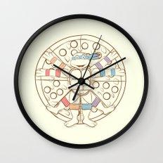 Vitruvian Turtle Wall Clock