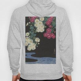 Chrysanthemums and Running Water Hoody