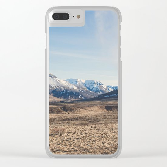 Hills through the window Clear iPhone Case