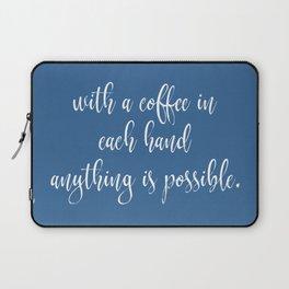 Funny Coffee Sayings Laptop Sleeve