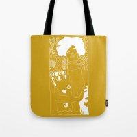 gustav klimt Tote Bags featuring Gustav Klimt by Ian CY Hau