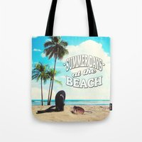 500 days of summer Tote Bags featuring Summer Days by Nicklas Gustafsson