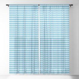 Oktoberfest Bavarian Blue and White Small Diagonal Diamond Pattern Sheer Curtain