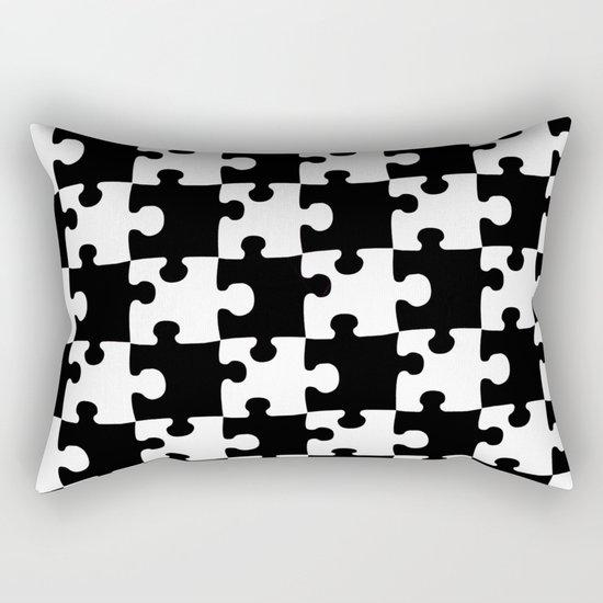 Checkerboard Puzzle Pieces Rectangular Pillow