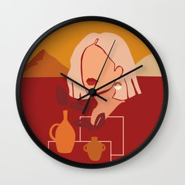 Beauty Illustrations Wall Clock