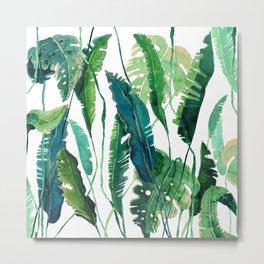 tropical leaves natural Metal Print