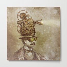 The Projectionist (sepia option) Metal Print