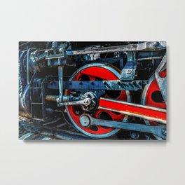 Impressive Vintage Steam Engine Locomotive Metal Print
