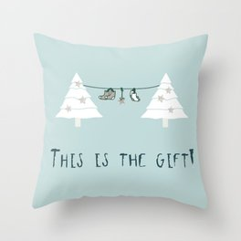 Christmas design This is the Gift Throw Pillow
