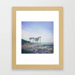 Seven Palm Trees Framed Art Print