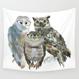 Smart as an Owl Wall Tapestry