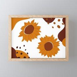 A Pair Of Sunflower Framed Mini Art Print