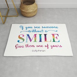 Give a SMILE - Dolly Parton Quote Rug