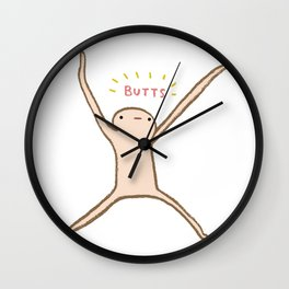 Honest Blob - Butts Wall Clock
