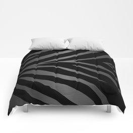 Black & Gray Metallic Zebra Print Comforters