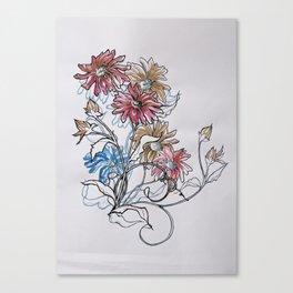Colour Daisy Canvas Print