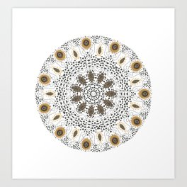 Fall Mandala Art Print
