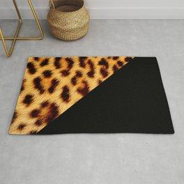Leopard skin with black color II Rug