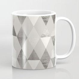 FUNKY PATTERN Triangles brown Coffee Mug