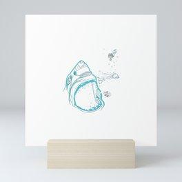 Shark Attack!!! Mini Art Print