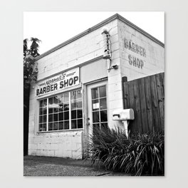 Norma's Barber Shop Canvas Print
