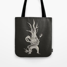 Creepy Tree Creature With Tangled Branches Tote Bag