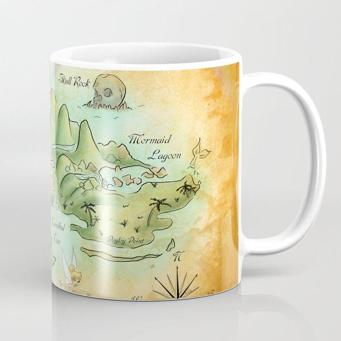 Neverland Map Coffee Mug By Mercedesjenningskrajny