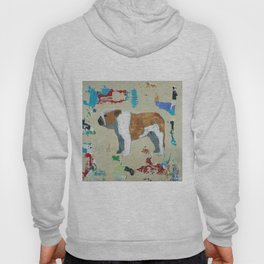 English Bulldog Abstract Art Hoody