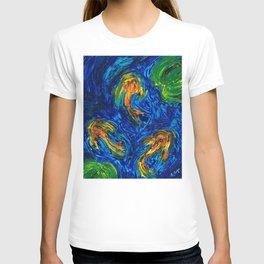 Impressionist Koi Fish by Sharon Cummings T-shirt