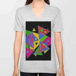 Triangles colourful Unisex V-Neck