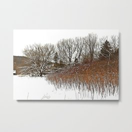Snowy Thicket Metal Print
