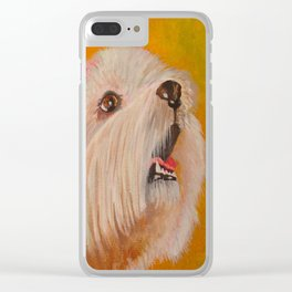 Westhighland White Terrier Portrait Clear iPhone Case