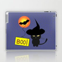 Cute cat trying to be scary for Halloween Laptop & iPad Skin